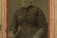 Tin-type-14-portrait-of-mature-woman-mounted-in-arched-pink-and-red-matt