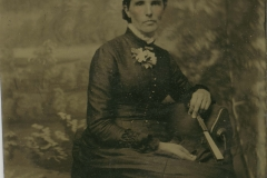 Tin-type-3-Portrait-of-seated-lady-in-hatholding-fan