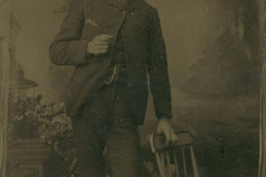 Tin-type-8-Man-in-White-hat-leaning-on-chair