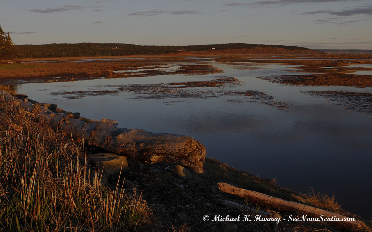 Waterside Marsh in Waterside, Albert County New Brunswick. No republication rights granted. contact mharvey@seenovas.mywhc.ca, for prints or reproduction.