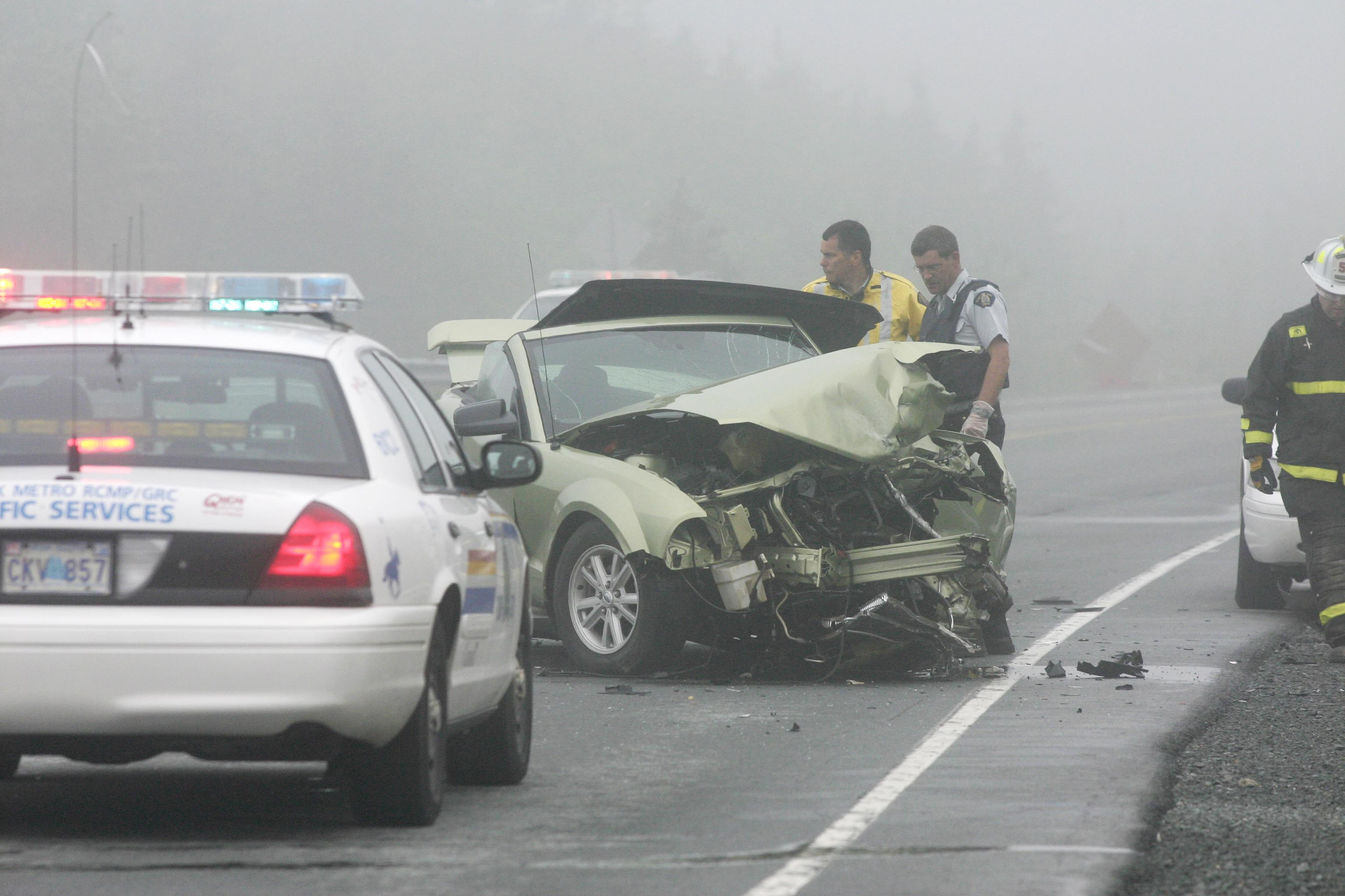 RCMP members responded to a 3 vehicle crash on highway 103 between exits 3 and 4 on Wednesday morning. One person was killed and 2 others were taken to hospital.