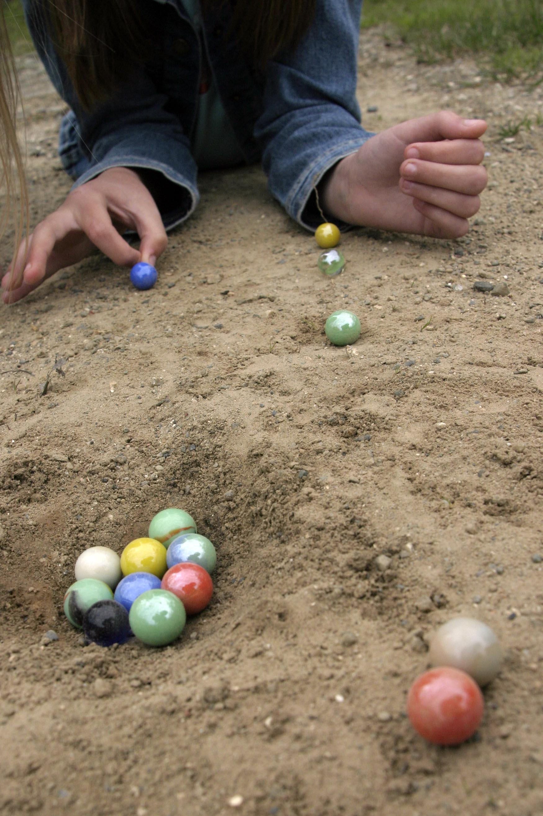 Playing Marbles. For Bev Dauphinee
